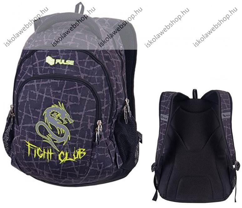 PULSE Teens Fight Club hátizsák, fekete-zöld