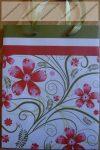 Nagy díszzacskó, Piros virágos