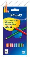 Pelikan Akvarell Színesceruza, 12 szín- Pelikan