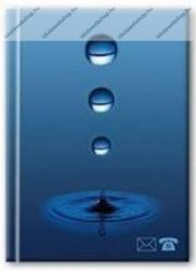 Kék címkönyv, 8x11 cm, 96 oldalas - Herlitz