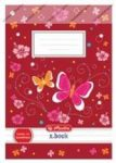Lecke és Üzenőfüzet, Butterfly, A5/32 lapos - Herlitz