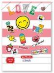 Üzenőfüzet, Smiley Pink, A5/32 lapos - Herlitz