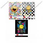 Smiley kockás füzet (vegyes minta), A4/87-32 - Herlitz