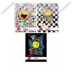 Smiley kockás füzet, színes, A4/87-32 - Herlitz (1 db)