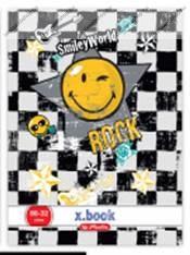 Smiley Rock kockás füzet, A4/87-32 (1 db, vegyes minta)- Herlitz