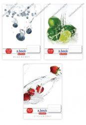Fresh Fruit kockás füzet (vegyes minta), A4 - Herlitz