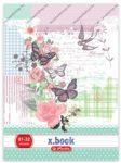 Ladylike butterfly A4/87-32 kockás füzet - Herlitz