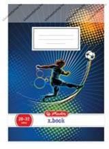 Herlitz 1. osztályos vonalas füzet, Focis/Soccer (A5/14-32)