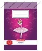 Herlitz 1. osztályos vonalas füzet, Ballerina (A5/14-32)