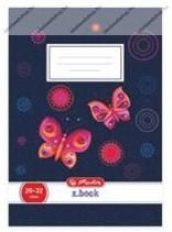 Herlitz 1. osztályos vonalas füzet, Butterfly jeans/Pillangós (A5/14-32)