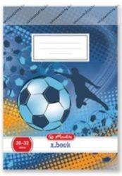 Herlitz 3. osztályos vonalas füzet, Soccer/Focis (A5/12-32)