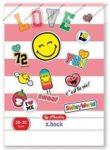 Smiley Pink felsős vonalas füzet, A5/21-32 - Herlitz