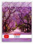 A5 Négyzethálós/Kockás spirálfüzet - Flower, Pink sétány