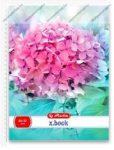A5 Négyzethálós/Kockás spirálfüzet - Flower, Pink virág