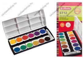 Vízfesték 12 szín + fedőfehér, ST12 - Herlitz