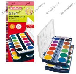 Vízfesték ST24, 24 szín + fedőfehér - Herlitz