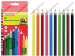 JUMBO színesceruza, vastag, lakkozott, hatszögletű (10 szín) - Herlitz