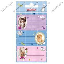 Pretty Pets iskolai etikett, 9 db - Herlitz
