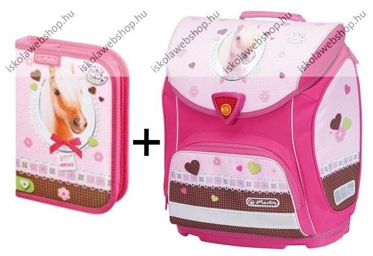 2e168d3b1b8e Herlitz Sporti tolltartó Pretty Pets Ló iskolatáska szett (tolltartóval)