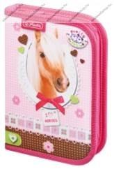 Herlitz kihajtható/klapnis tolltartó, Pretty Pets Ló, üres