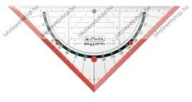 My.pen geometriai háromszög vonalzó, 16 cm (törésbiztos), Piros- Herlitz
