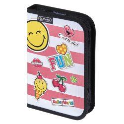 Herlitz kihajtható tolltartó, Smiley Girly/Fun, üres