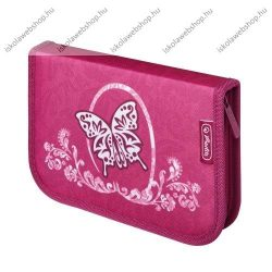 Herlitz kihajtható/klapnis tolltartó, Butterfly/Pillangós/Rose Butterfly/Pillangós, 31 részes töltött
