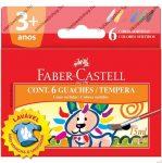 Tempera tégelyes, 6 szín x 15 ml - Faber-Castell