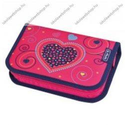 Herlitz kihajtható/klapnis tolltartó, Szív - pink, üres