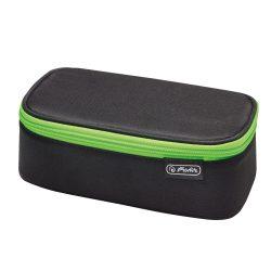 Herlitz BeatBox tolltartó, Black Green Stripes, üres