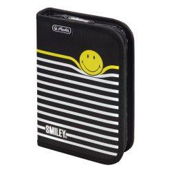 Herlitz kihajtható/klapnis tolltartó, Smiley B&Y Stripes, üres