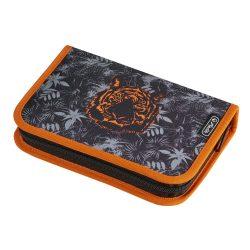 Herlitz kihajtható/klapnis tolltartó, 2 klapnis, Tiger,/Tigris,  üres