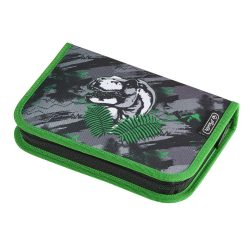 Herlitz kihajtható/klapnis tolltartó, Dino Jungle, üres