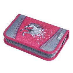 Herlitz kihajtható/klapnis tolltartó, Lovas/Power Horse, 31 részes töltött
