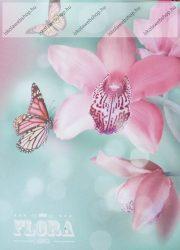 Papírfedeles notesz, GEO, Orchidea pink (A7)