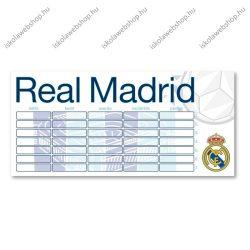 Real Madrid kétoldalas nagy órarend  - Ars Una