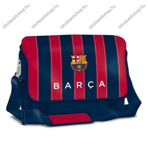 9fba07876634 Barcelona nagy fekvő oldaltáska, fedeles piros-kék csíkos- Ars Una ...