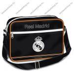 Real Madrid nagy fekvő oldaltáska, fekete - Ars Una