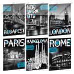 Cities By Night A4 vonalas füzet - Ars Una