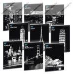 Cities By Night A5 felsős vonalas füzet - Ars Una