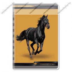 Lovas fekete prémium kockás füzet, A4 - Ars Una