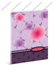 Rózsás pink kockás füzet, A4 - Ars Una