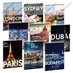 Cities-Világ városai kockás füzet, A4 - Ars Una