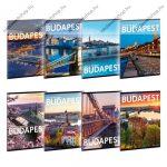 Cities-Világ városai, Budapest, A5 felsős vonalas füzet - Ars Una
