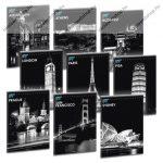 Cities by night - Városok éjszaka, sima füzet, A5 - Ars Una