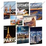Cities-Világ városai sima füzet, A5 - Ars Una