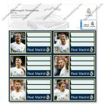 Real Madrid csomagolt füzetcímke (3x6 db) - Ars Una