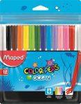 """MAPED """"Color'Peps Ocean"""" kimosható filctoll készlet, 12 szín"""