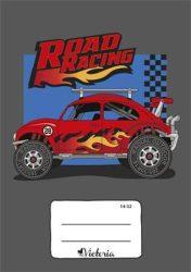 VICTORIA Road Racing Versenyautós kockás füzet, 27-32