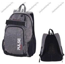PULSE Scate szürke hátizsák, notebook tartóval